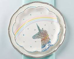 paper plates enchanted unicorn paper plates set of 8 my wedding favors