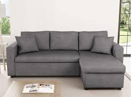 canapé avec coffre canapé d angle réversible et convertible avec coffre gris