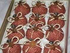 diy homespun fabric ornaments click through for