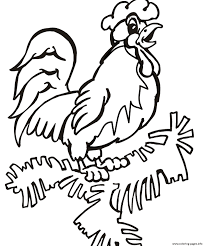 farm animal s rooster pic38aa coloring pages printable