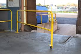 Temporary Handrail Systems Loading Dock Safety Gates Diversified Fall Protection
