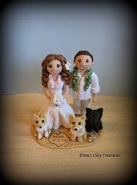 wedding cake toppers theme wedding cake topper custom cake topper and groom with pets