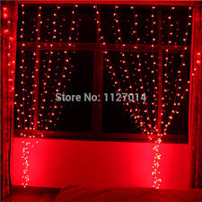 red string lights for bedroom fairy led christmas light curtain lights led string 4 0 5m 140 red