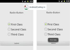 android radio button tutorial on radio button