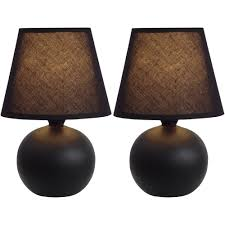 Home Decor Light by Simple Designs Mini Ceramic Globe Table Lamp 2 Pack Set Walmart Com