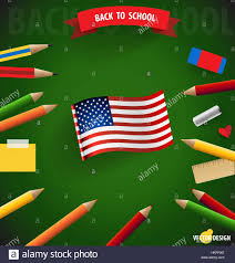 Welcome Flag Welcome Back To With American Flag Vector Illustration
