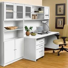 Hutch With Desk by Series 100 Modern White 63