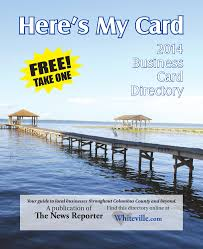 business card directory 2014 by the news reporter issuu