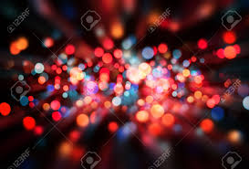 bokeh abstract blurred colored lights on a background stock