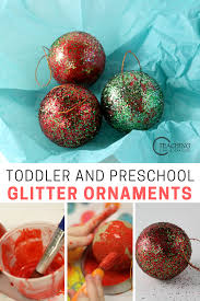 easy toddler ornament with glitter