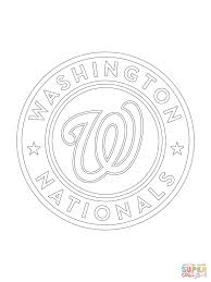 washington nationals logo coloring page free printable coloring