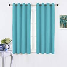 Turquoise Blackout Curtains Nicetown Blackout Curtains 63 Window Treatment
