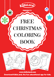 free christmas coloring book kidloland
