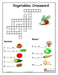 vegetable crossword lela
