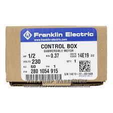 franklin qd control box 1 2 hp 230v