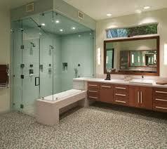 steam shower design bathroom transitional with recessed shelf cast