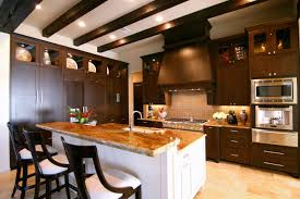 100 multi level kitchen island kitchen area has a top of