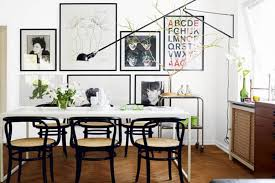 interior paint small apartment dining room ideas bright accents