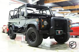 land rover defender black 1997 land rover defender fusion luxury motors