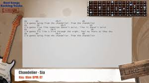 Lyrics Of Chandelier By Sia Chandelier Sia Guitar Backing Track With Chords And Lyrics Youtube