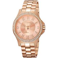 rose tone stainless steel bracelet images Ferre milano women 39 s swiss quartz crystal accented rose tone