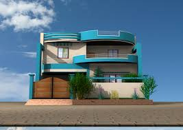 Modern 3d Home Design With 2 Floors Home Using Tall Wooden Fence Home Design 3d