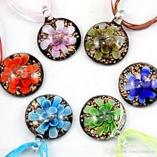 crystal glass pendant necklace images Wholesale clear dichroic glitter glass pendants necklace fashion jpg