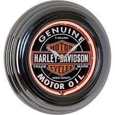 harley davidson oil can neon wall clock www kotulas com free