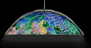 tropical fl motif billiard table lamp view 4