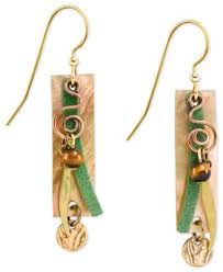 silver forest earrings silver forest earrings gold tone genuine shell elongated drop