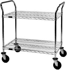 Wire Shelf Cart Carts For Electronics Medical Cleanroom And Industiral Applications