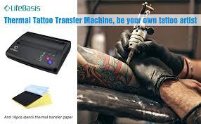 tattoo thermal printer reviews amazon com life basis thermal tattoo transfer machine tattoo kit