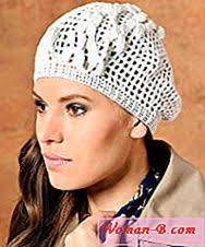 redheart pattern lw2741 ženy pletené barety móda 2017 časopis módní dámské 2017