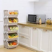 how to organize kitchen cabinet pantry kitchen storage rack stacking basket bins for