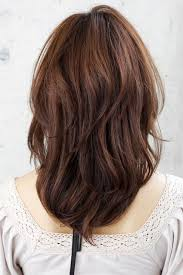 medium length hair styles from the back view back view of medium layered hairstyle long haircuts from the back