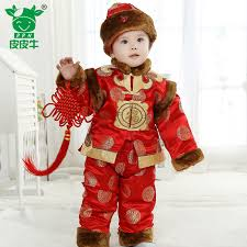 new year baby clothes kids winter 2014 new year festive costume cotton clothing infant