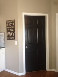 painting doors black interior and interiors on pinterest with