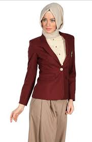 blazer wanita muslimah modern model baju jas kerja wanita muslimah modern berjilbab terbaru 2015