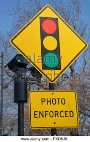 Red Light Camera Chicago Red Light Traffic Violation Sign Stock Photo Royalty Free Image