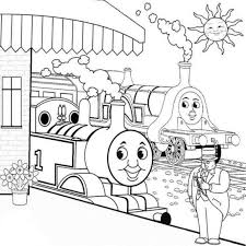 free coloring pages thomas train cartoon coloring pages