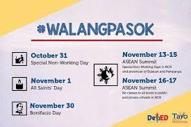 walangpasok november 2 2017 is not a deped lp s