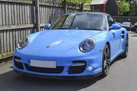 Ferrari 458 Light Blue - porsche 911 turbo in gloss light blue reforma uk