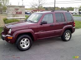 red jeep liberty 2003 jeep liberty limited 4x4 in dark garnet red pearl 539971