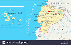 Map Of Latin America With Capitals by Political Map Of Ecuador And Galapagos Islands With The Capital