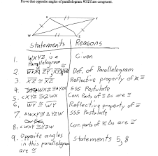 properties of parallelograms worksheet proving parallelogram angle congruence students are asked to prove