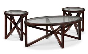 asterix coffee table and two end tables espresso leon u0027s