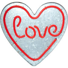 tk maxx home decor only 9 99 led heart love sign wall art home accessories