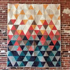 sew with equilateral triangles in this modern quilt pattern