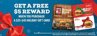 get a free 5 bonus buck reward when you robin gourmet