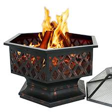 Steel Firepit Smartxchoices 24 Inch Outdoor Heavy Steel Pit Wood Burning